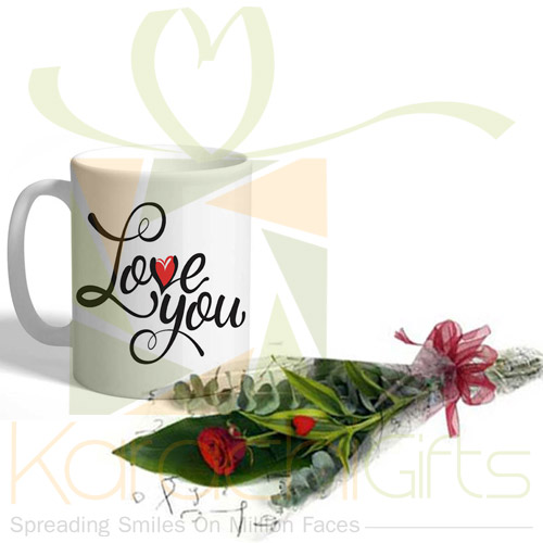 Love Mug With Imported Rose