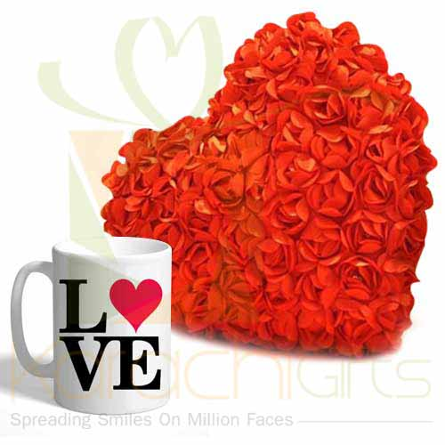 Rose Heart With Love Mug