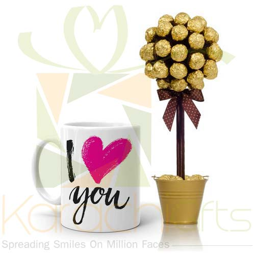 Love Mug With Choc Tree
