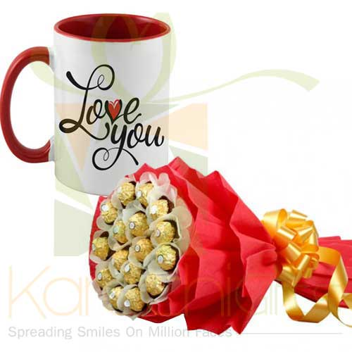 Rochers Bouquet With Love You Mug