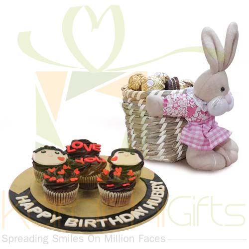 Choco Rabbit With Cupcakes