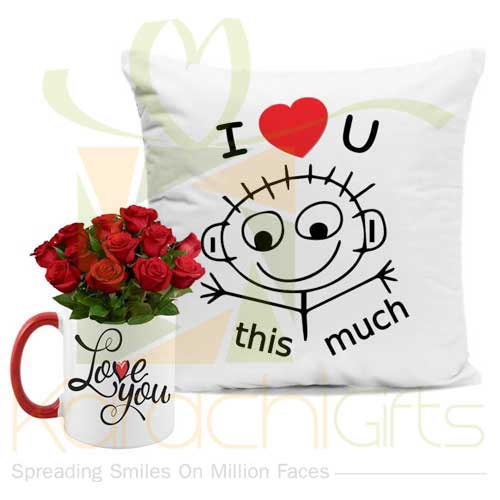 Cushion With Love Rose Mug