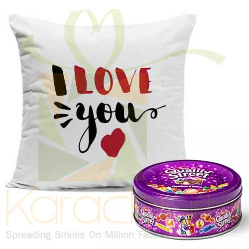 Love Cushion And Chocs