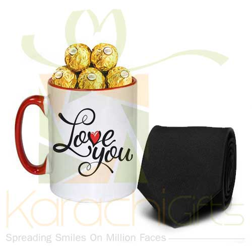 Love Choc Mug With Tie