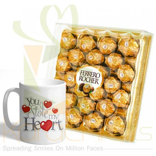 Mug With Large Ferrero Box