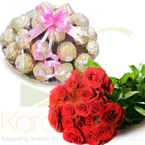 Rocher Tray With Roses