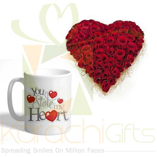 Rose Heart With Mug