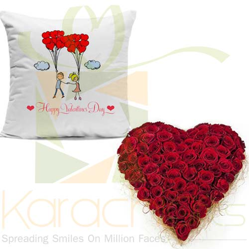 Rose Heart With Cushion