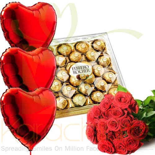 Hearts Roses And Chocs