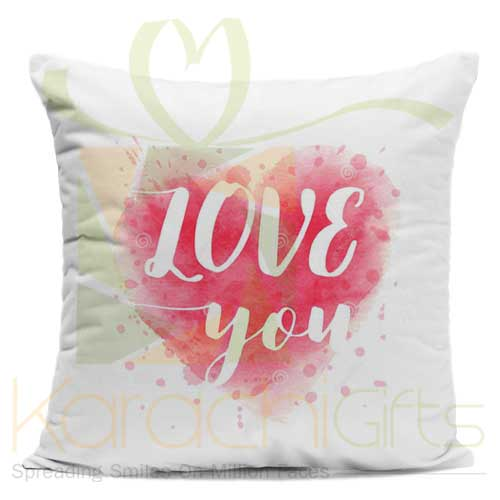 Pink Heart Love Cushion