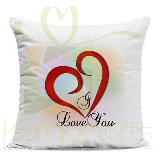 I Love U Heart Cushion
