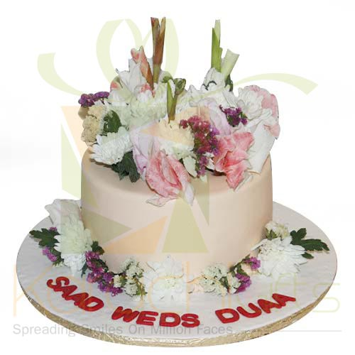 Wedding Cake 4lbs Real Flowers By Sachas