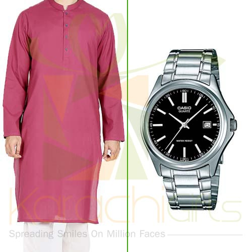 Watch With Kurta
