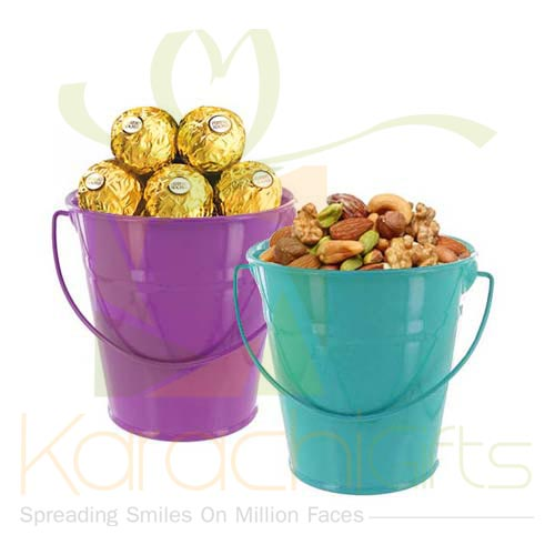 Chocs And Dry Fruit Bucket