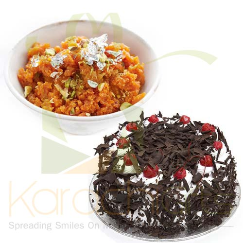 Gajar Halwa With Cake