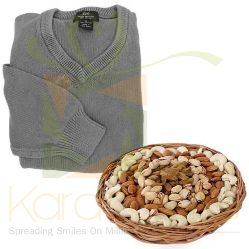 Sweater With Dry Fruits