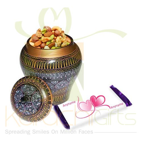 Dry Fruit Pot With Custom Choc